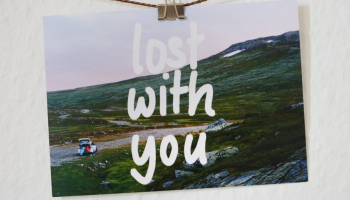 """Postkarte """"Lost With You"""""""